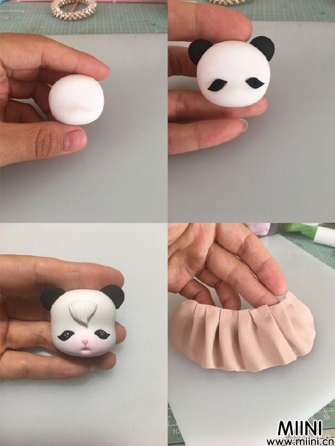 女版妖娆粘土熊猫做法
