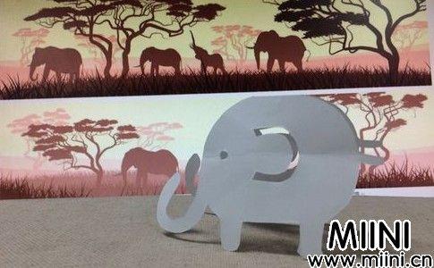 立体大象剪纸步骤教程
