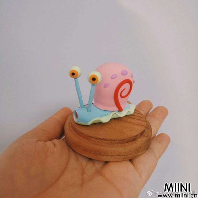 可爱滴粘土小蜗牛玩偶做法