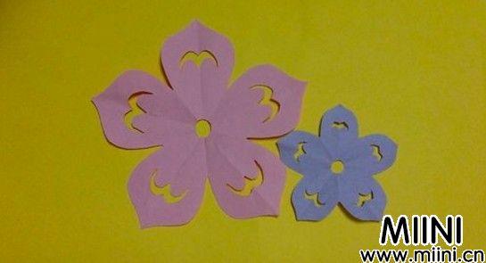 儿童手工,漂亮的桃花剪纸教程