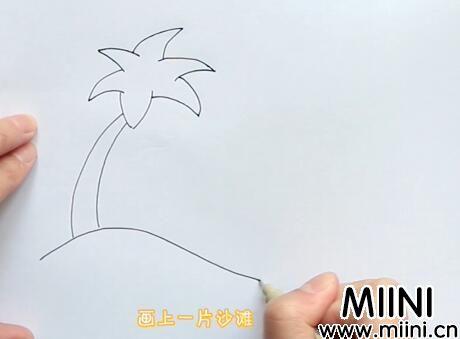 椰子树简笔画怎么画?椰子树简笔画步骤教程