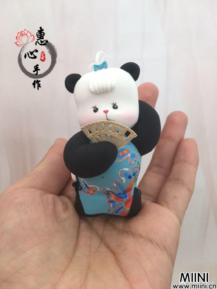 粘土女版胖达粘土熊猫做法