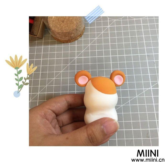 超轻粘土玩偶松鼠制作方法