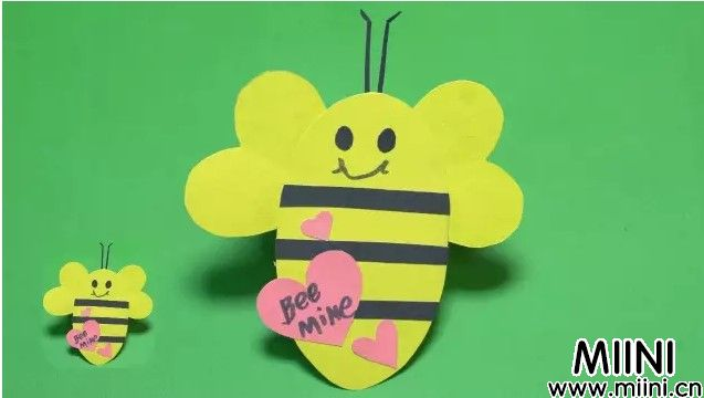 用卡纸剪一个小蜜蜂教程