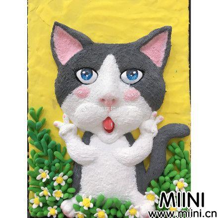 可爱的<a href=http://www.miini.cn/search-0-495.html target=_blank class=infotextkey>粘土</a>猫咪<a href=http://www.miini.cn/hhds/ target=_blank class=infotextkey>画</a>手办做法