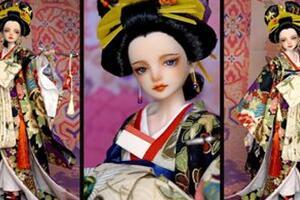 廉价娃娃改妆《恶女花魁》衍生手工作品教程