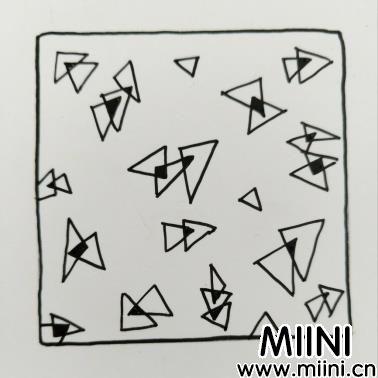 三角碎片山禅绕画自学基本图案