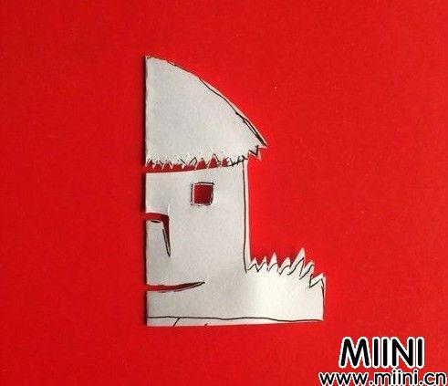 小茅屋剪纸08