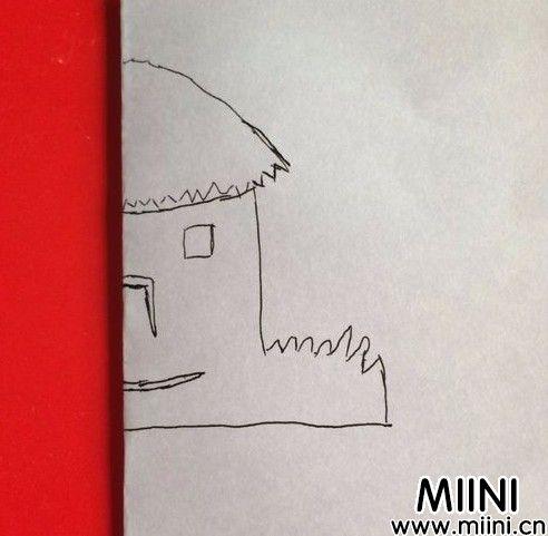 小茅屋剪纸04