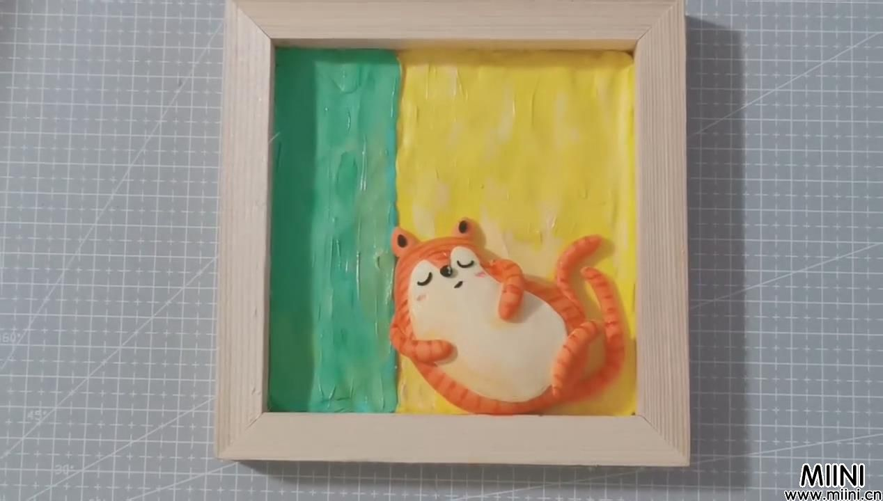 超简单的小狐狸粘土画教程