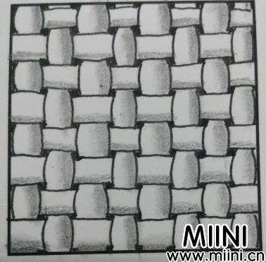 编织图案的禅绕画画法