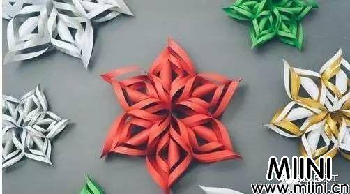 立体雪花窗花的剪纸步骤教程