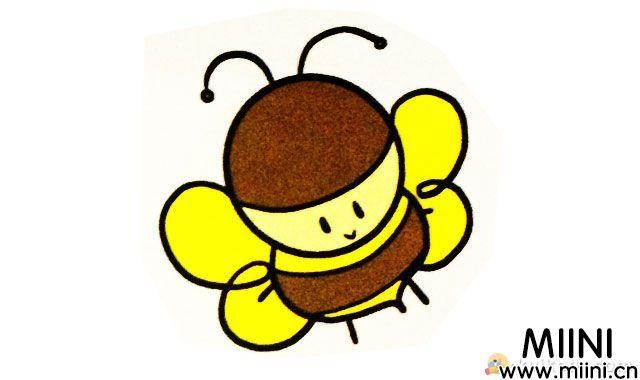 小蜜蜂简笔画绘画步骤图解