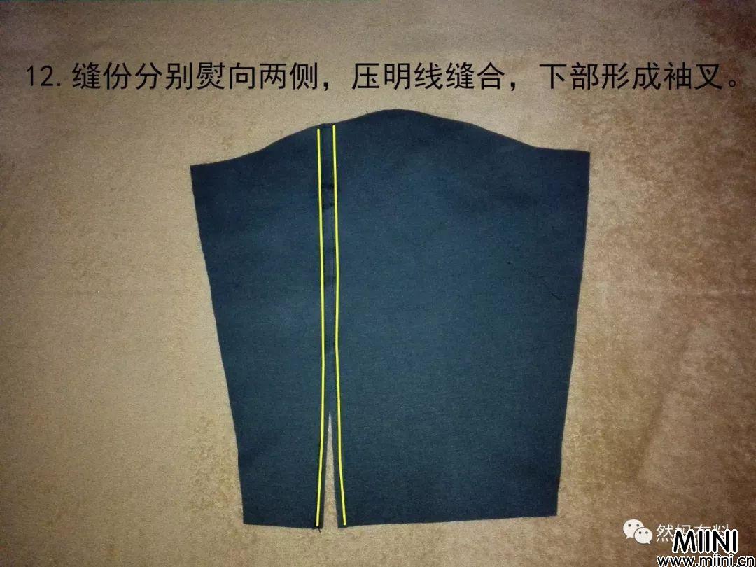 女士罗马布短外套的详细制作图解