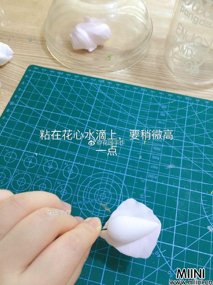 白色的粘土玫瑰花教程制作方法