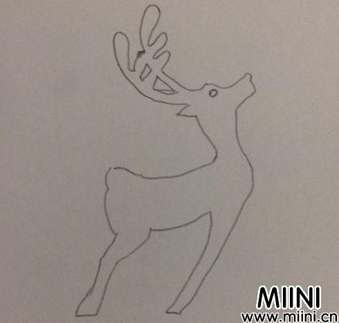 小鹿剪纸03