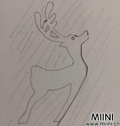 小鹿剪纸05