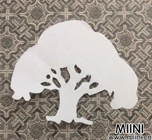 大树剪纸01