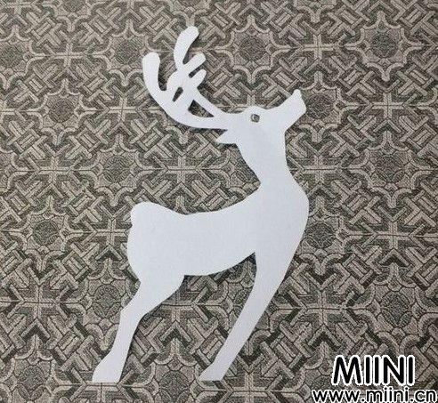 小鹿剪纸01