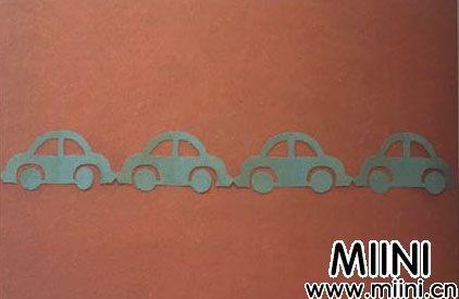 小汽车剪纸的步骤图解