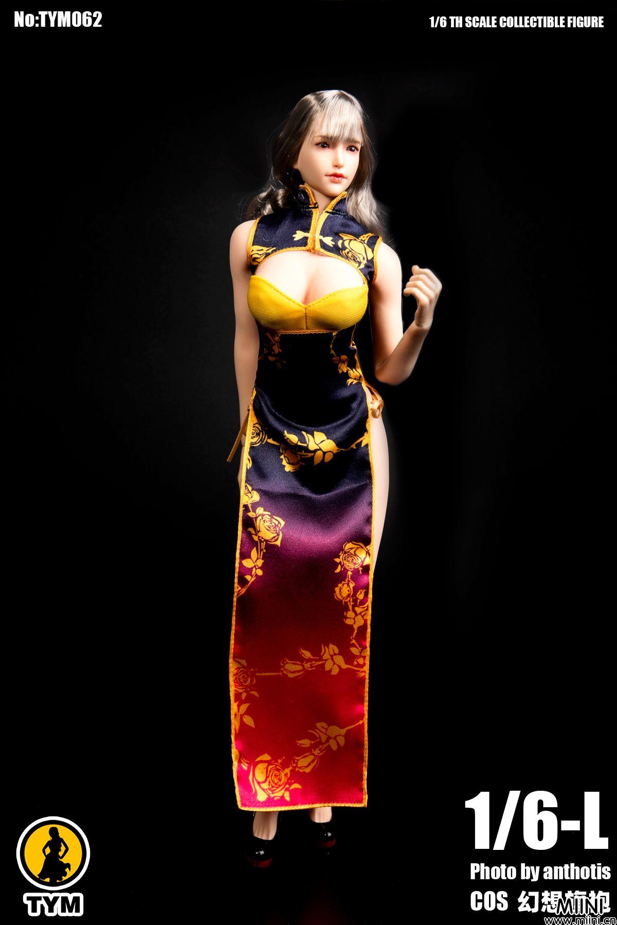 6分兵人娃娃中国风性感幻想旗袍展示
