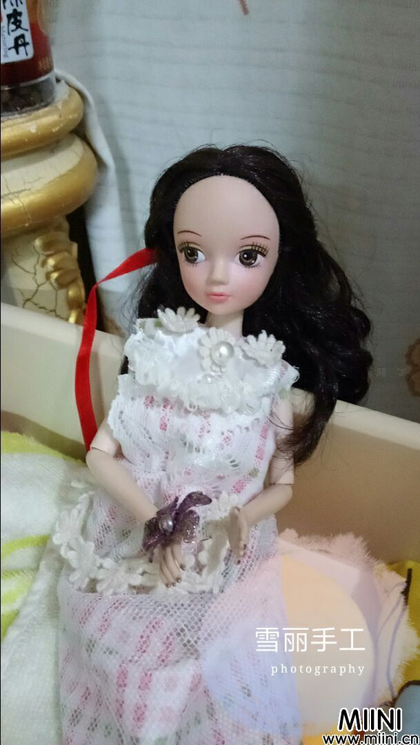 可儿娃娃婚纱公主小裙子制作步骤图解