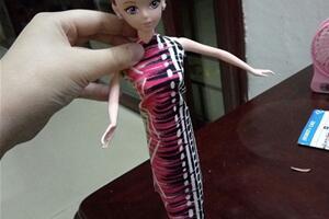 芭比娃娃旗袍娃衣制作步骤图解