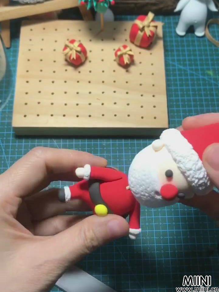 粘土圣诞老人的简单做法