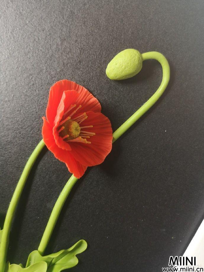 虞美人粘土花朵制作方法教学