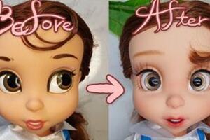 迪士尼美女与野兽-贝拉,沙龙娃娃改妆
