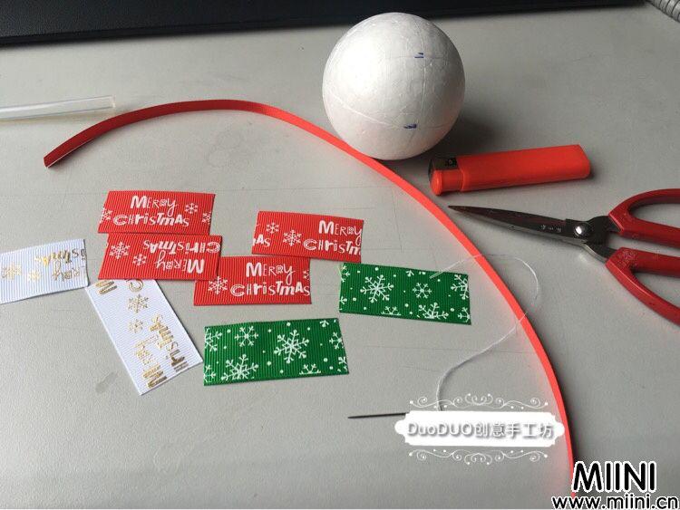 圣诞球DIY制作步骤图解