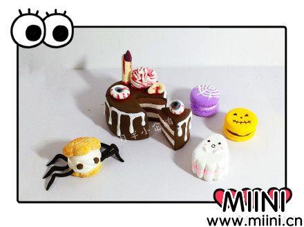 万圣节主题粘土蛋糕糕点制作步骤
