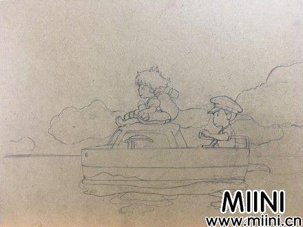 悬崖上的金鱼姬粘土画做法