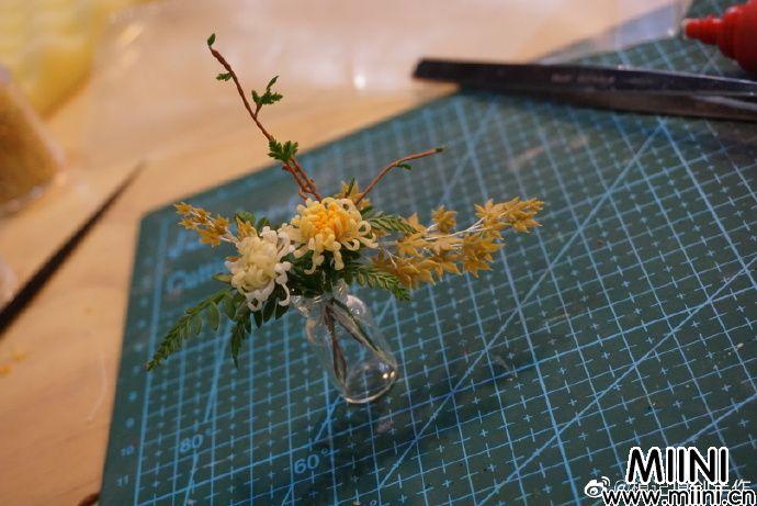 清新粘土雏菊花束摆件制作教程