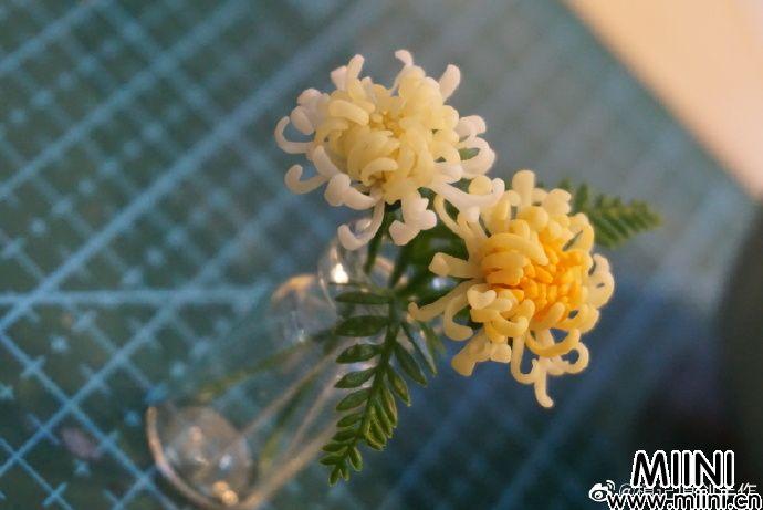 用粘土制作雏菊花束的步骤图解