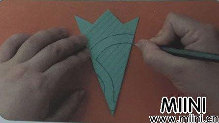 简单易学的五环剪纸步骤图解