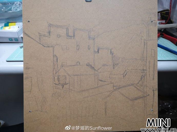 江西婺源特色建筑粘土房子画做法