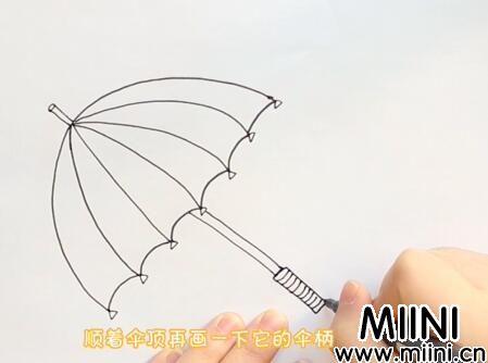 雨伞简笔画怎么画?雨伞简笔画步骤教程