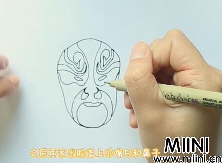 脸谱简笔画怎么画?脸谱简笔画步骤教程