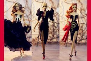 fashion royalty娃娃扮演各大超模走台步