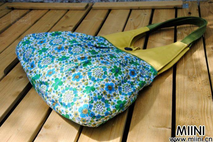 教你制作漂亮实用的女士布艺背包做法图解