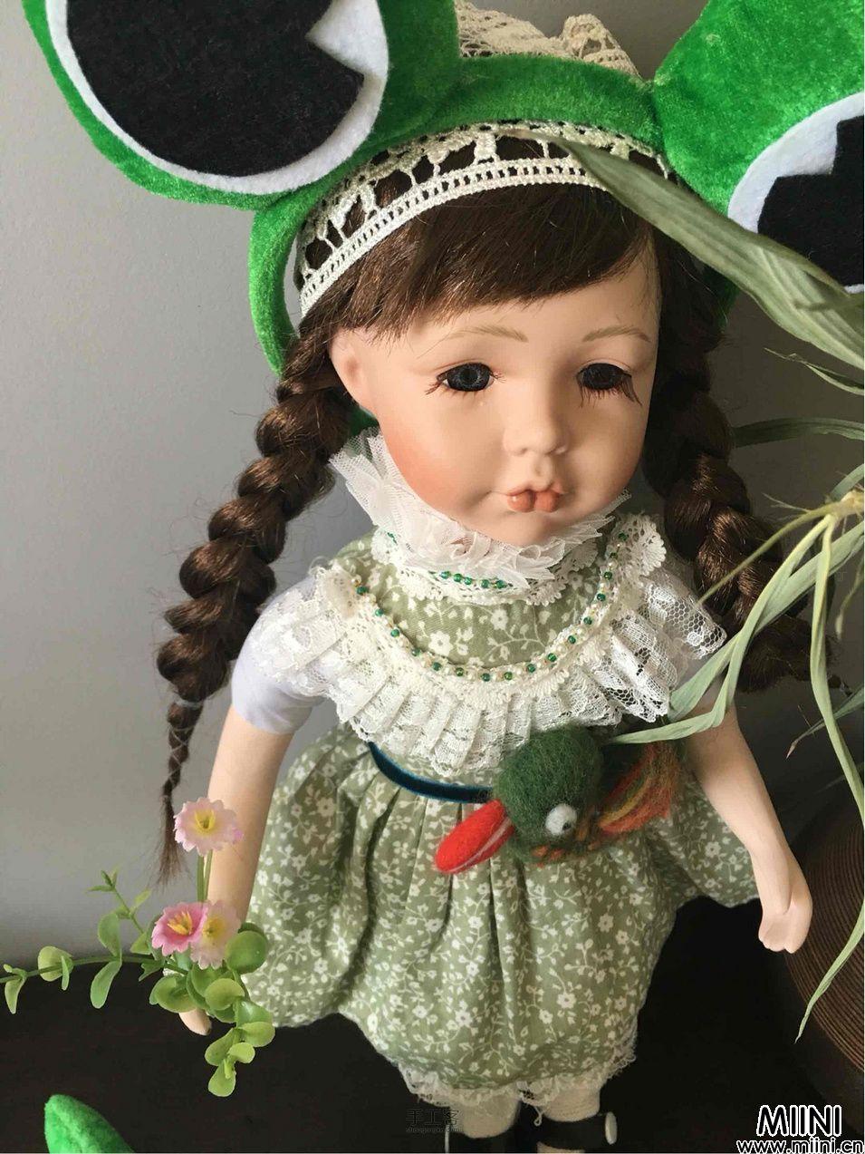 bjd娃娃的连衣小裙子步骤教程