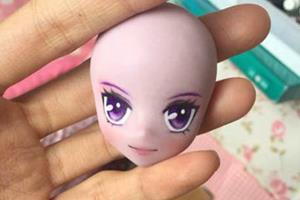 自己制作的人偶娃娃画眼步骤图解教程