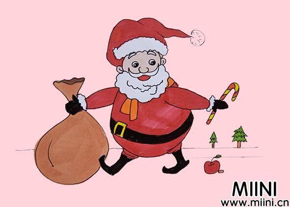 圣诞老人简笔画步骤教程