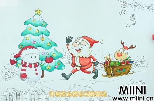 圣诞主题画怎么画?圣诞主题画步骤教程