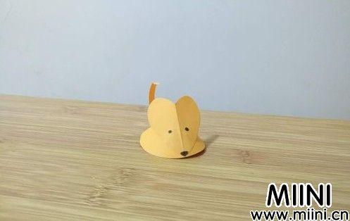立体老鼠的折纸步骤教程