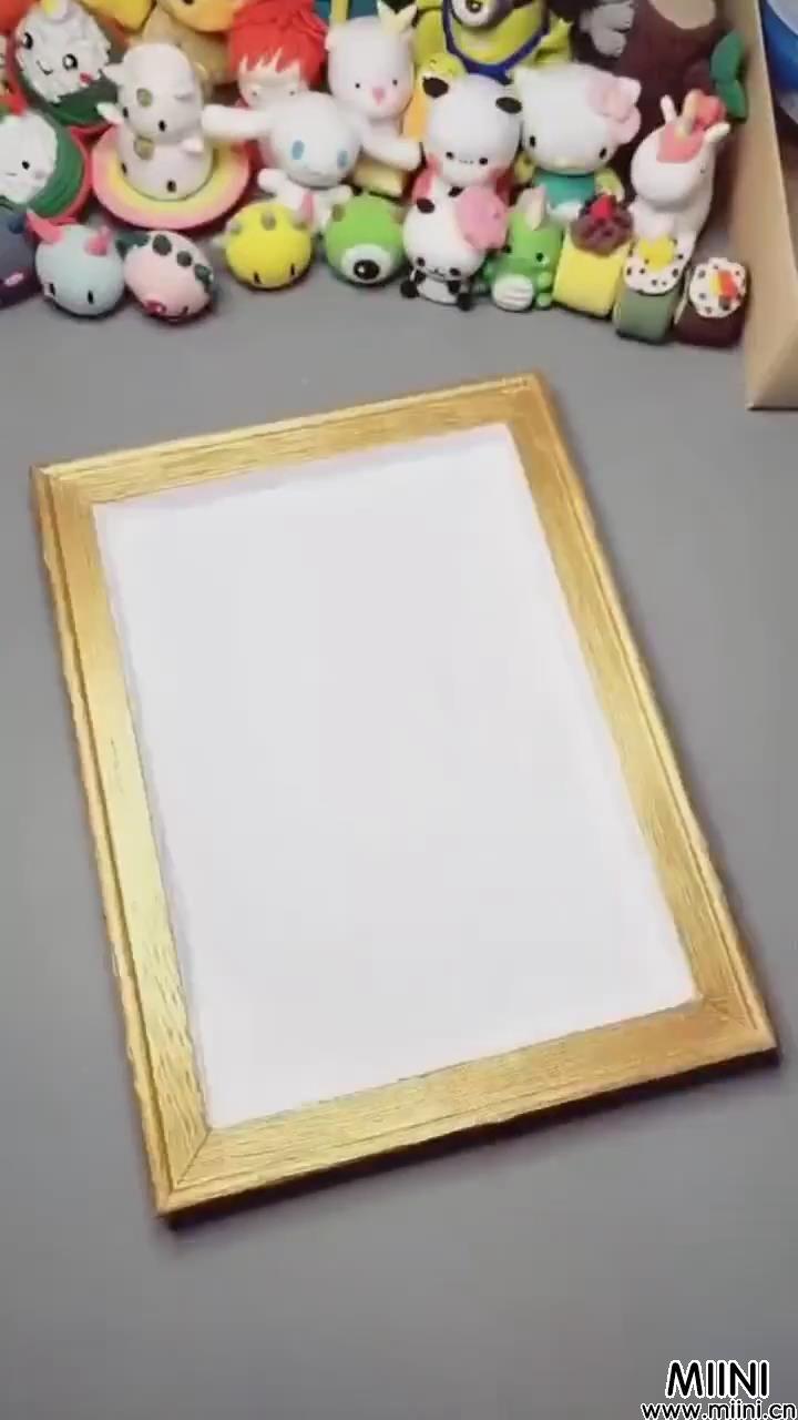 火烈鸟粘土画框制作步骤教程