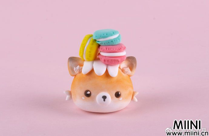 超可爱的粘土小狐狸杯子蛋糕
