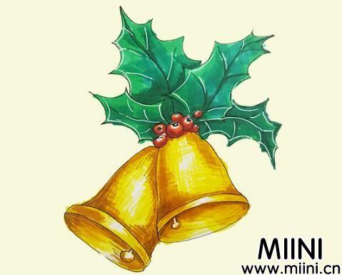 圣诞节铃铛简笔画怎么画?圣诞节铃铛简笔画步骤教程