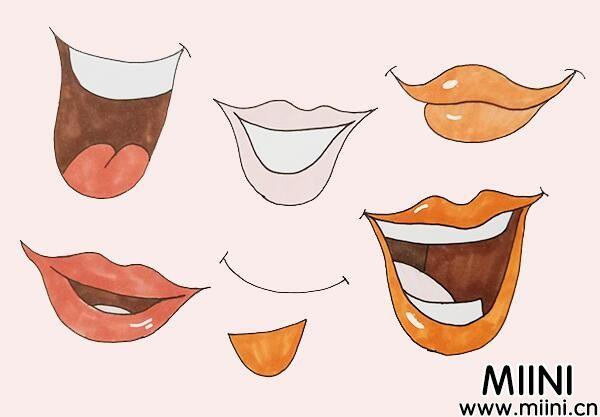 动漫女生嘴巴画法步骤教程